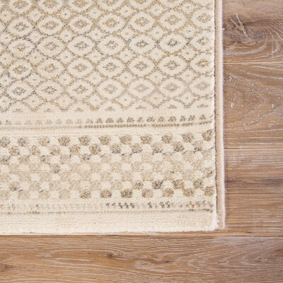 Morton Taupe/Tan Area Rug Rug Size: Rectangle 53 x 76