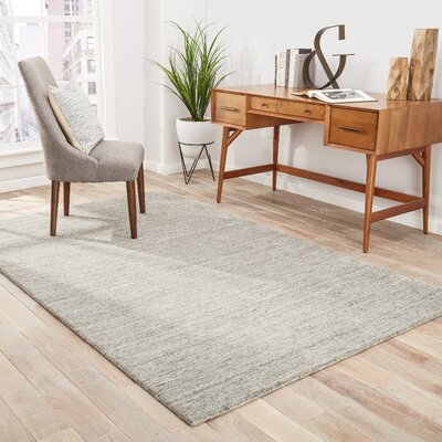 Helen Hand-Woven Gray/Taupe Area Rug Rug Size: 2 x 3