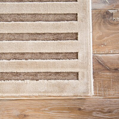 Helena Tan/Cream Area Rug Rug Size: 2 x 3