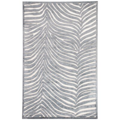 Meyers Pewter/Vaporous Gray Area Rug Rug Size: Rectangle 5 x 76