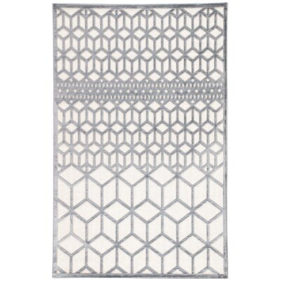 Helene Gray/White Area Rug Rug Size: Rectangle 5 x 76