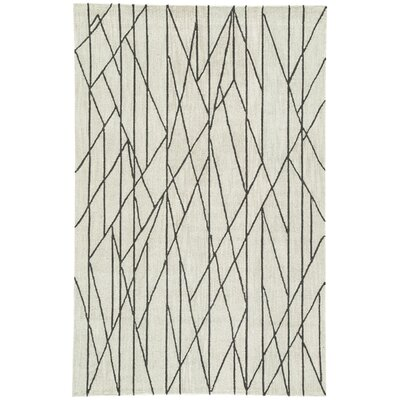 Hellman Hand-Tufted Taupe/Black Area Rug Rug Size: Rectangle 76 x 96