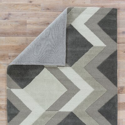 Shayla Hand-Tufted Greige/Cream/Tan Area Rug Rug Size: 76 x 96
