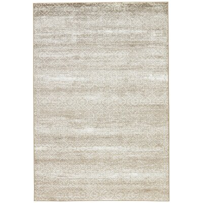 Burcet Brown/Cream Area Rug Rug Size: 2 x 3