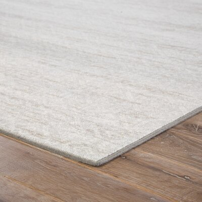 Burcet Gray/Cream Area Rug Rug Size: 53 x 76