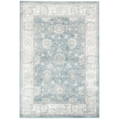 Vika Blue/Gray/Brown Area Rug Rug Size: Rectangle 710 x 1010