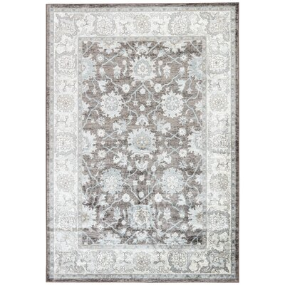 Vika Blue/Brown Area Rug Rug Size: 710 x 1010