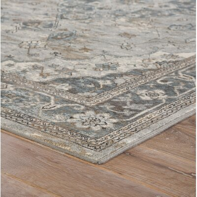 Viktor Blue/Brown/Cream Area Rug Rug Size: 2 x 3