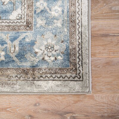 Viktor Silver/Blue Area Rug Rug Size: Rectangle 2 x 3