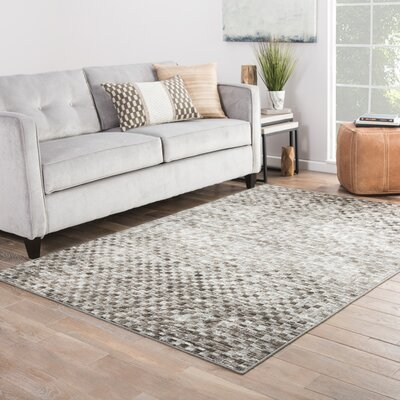 Sienna Brown/Gray Area Rug Rug Size: Rectangle 53 x 76