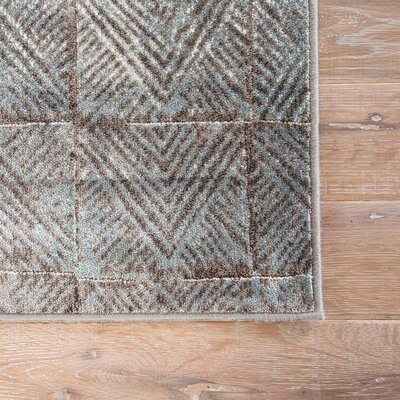Burdette Smoke Blue/Chocolate Chip Area Rug Rug Size: Rectangle 2 x 3
