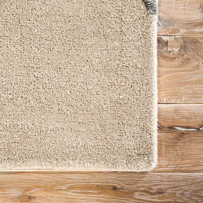 Ashton Hand-Tufted Beige/Pewter Area Rug Rug Size: 9 x 12