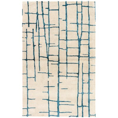 Heinrich Hand-Tufted Taupe/Navy Area Rug Rug Size: Rectangle 5 x 8