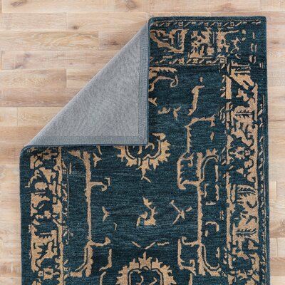 Belleville Hand-Tufted Navy/Ginger Area Rug Rug Size: 8 x 11