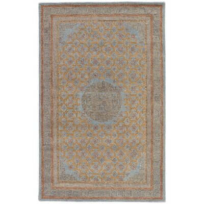 Holden Hand-Tufted Blue/Cinnamon Area Rug Rug Size: 9 x 13