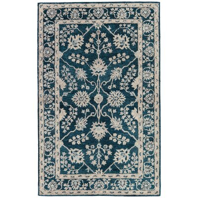 Voorhees Hand-Tufted Navy/Blue/Gray Area Rug Rug Size: 9 x 13