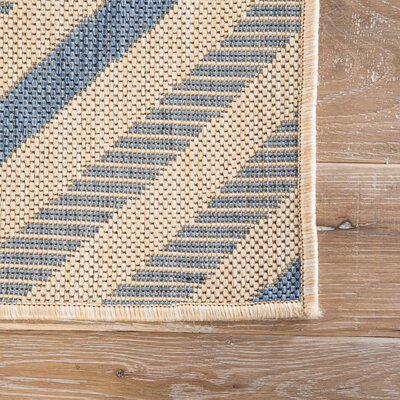 Helle Blue/Beige Indoor/Outdoor Area Rug Rug Size: 76 x 96