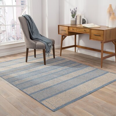 Bruggeman Copen Blue/Marzipan Indoor/Outdoor Area Rug Rug Size: 76 x 96