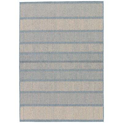 Gwen Copen Blue/Marzipan Indoor/Outdoor Area Rug Rug Size: Rectangle 5 x 76