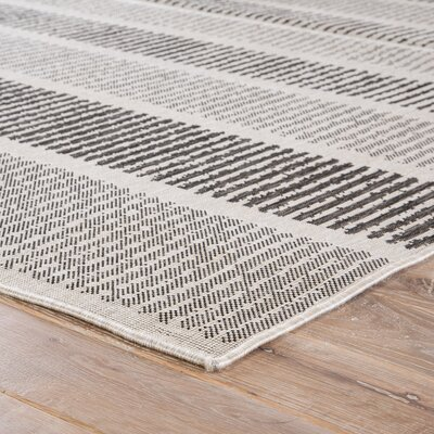Gwen Gray/Black Indoor/Outdoor Area Rug Rug Size: Rectangle 5 x 76