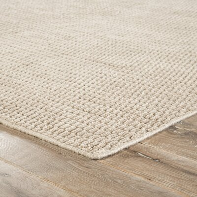 Brummett Hand-Woven Oxford Tan Indoor/Outdoor Area Rug Rug Size: 2 x 3