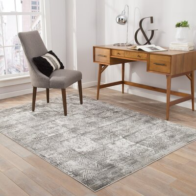 Helmer Lily White/Dove Area Rug Rug Size: Rectangle 2 x 3