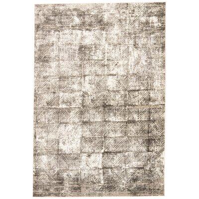 Helmer Gray/Slate/Taupe Area Rug Rug Size: 76 x 96