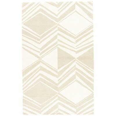 Helmick Hand-Tufted Cream/Taupe Area Rug Rug Size: Rectangle 2 x 3