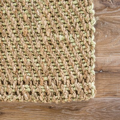 Blairstown Hand-Woven Cornstalk/Aloe Wash Area Rug Rug Size: Rectangle 5 x 8
