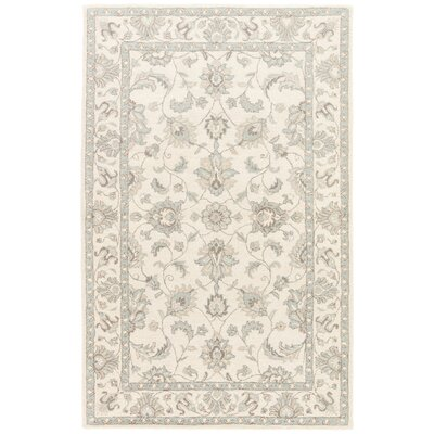 Blakeway Hand-Tufted Cream/Blue/Pewter Area Rug Rug Size: 2 x 3