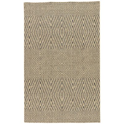 Helman Hand-Woven Tan/Gray Area Rug Rug Size: Rectangle 5 x 8