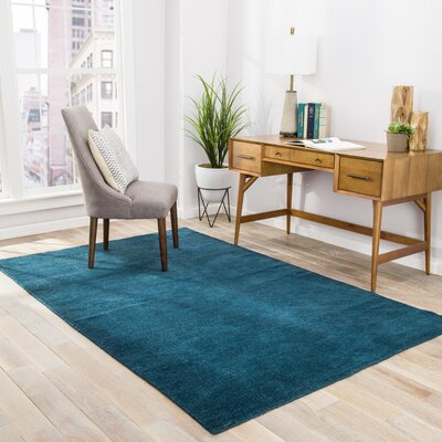 Seren Hand-Woven Navy Area Rug Rug Size: Rectangle 8 x 11