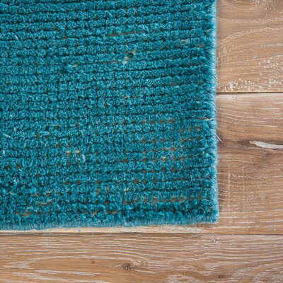 Seren Hand-Woven Teal Area Rug Rug Size: Rectangle 8 x 11