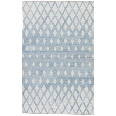 Heinz Blue/Cream Indoor/Outdoor Area Rug Rug Size: Rectangle 5 x 8