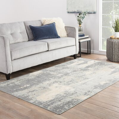 Ivar Gray/Cream Area Rug Rug Size: Rectangle 2 x 3