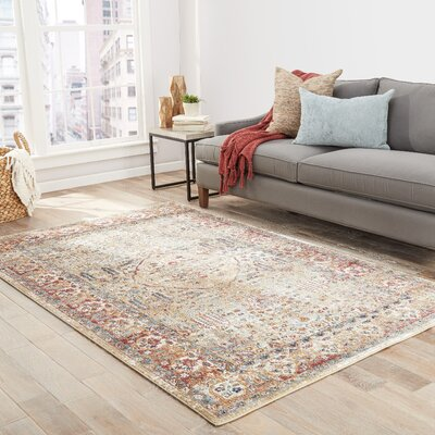Bitteridge Taupe/Blue/Mauve Area Rug Rug Size: Rectangle 5 x 8