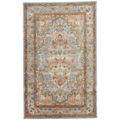 Valentino Blue/Mauve/Taupe Area Rug Rug Size: Rectangle 2 x 3