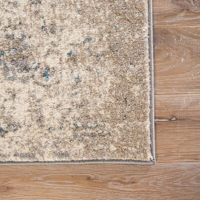Taya Cream/Gray/Blue Area Rug Rug Size: 2' x 3'