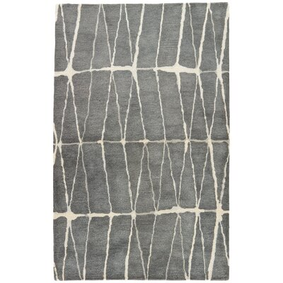 Heiss Hand-Tufted Gray/Cream Area Rug Rug Size: Rectangle 2 x 3