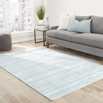 Sara Hand-Woven Gray-blue Area Rug Rug Size: Rectangle 8 x 10