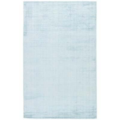 Sara Hand-Woven Gray-blue Area Rug Rug Size: Rectangle 5 x 8