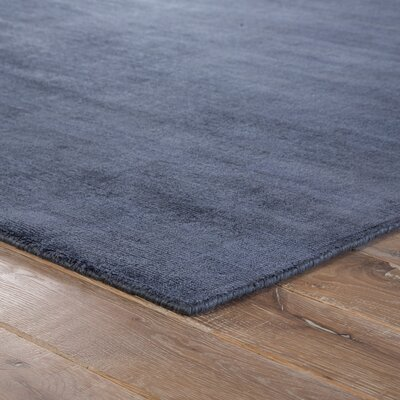 Sara Hand-Woven Blue/Gray Area Rug Rug Size: 2' x 3'