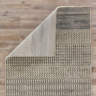 Morton Beige/Gray/Black Area Rug Rug Size: 2 x 3