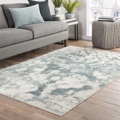 Shaelyn Teal/Gray Area Rug Rug Size: Rectangle 2 x 3