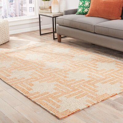 Helfer Tan/Orange Indoor/Outdoor Area Rug Rug Size: 76 x 96