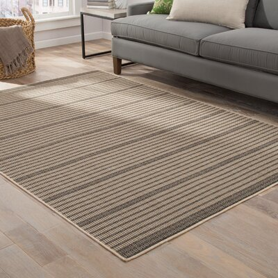 Guilderland Black/Beige Indoor/Outdoor Area Rug Rug Size: Rectangle 76 x 96