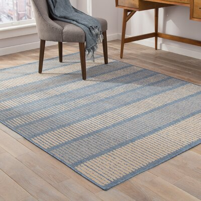 Bruggeman Blue/Beige Indoor/Outdoor Area Rug Rug Size: 2 x 3