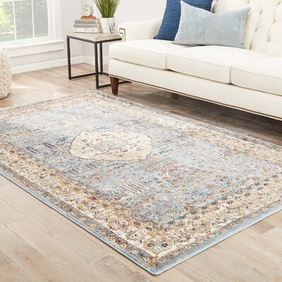 Bitteridge Blue/Red/Tan Area Rug Rug Size: 5 x 8