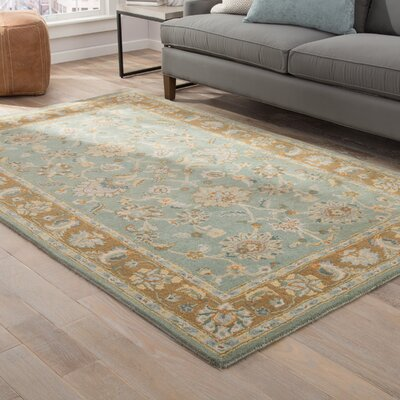 Veronika Hand-Tufted Blue/Brown Area Rug Rug Size: 5 x 8