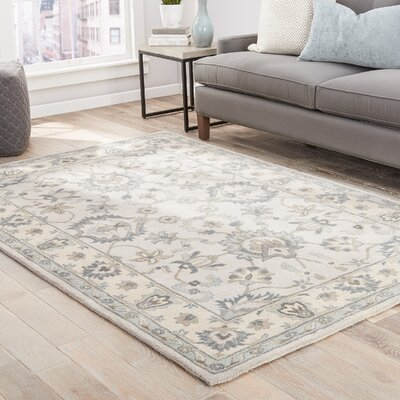 Blake Hand-Tufted Taupe/Blue Area Rug Rug Size: 5 x 8